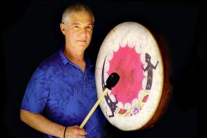 Neil Schapera with Shamans Drum