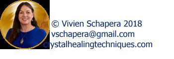 Vivien Schapera healing with Crystal Reading Board